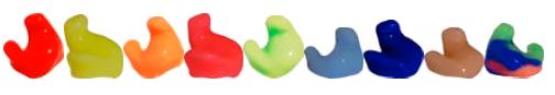 tapones de baño de colores